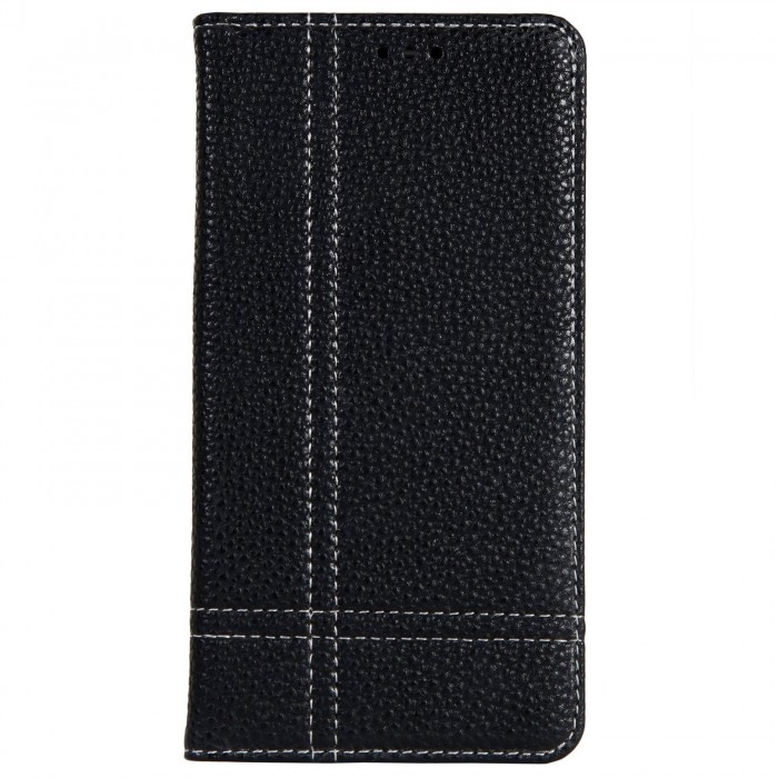 Cubix Wallet Case PU Leather Flip Folio Kickstand - [Slim Fit] Vintage Flip Case Cover with Stand Function For Samsung Galaxy S8 (Black)
