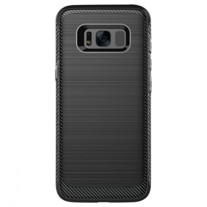 Cubix [Onyx] [Resilient Strength] Flexible Durability Durable Anti-Slip TPU Defensive Case for Samsung Galaxy S8+, Galaxy S8 Plus (Black)