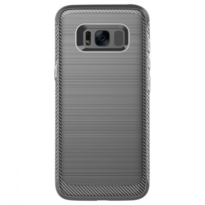 Cubix [Onyx] [Resilient Strength] Flexible Durability, Durable Anti-Slip, TPU Defensive Case for Samsung Galaxy S8 - Grey