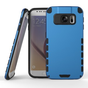 Samsung Galaxy S6 Edge Case (Cubix) Armor Robot Cover [Anti Scratch] Slim-Fit Two Layer Defender Bumper Back cover For Samsung Galaxy S6 Edge (Blue)