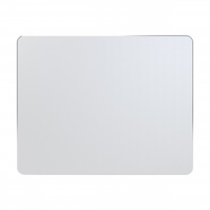 Cubix Lifetime Series Aluminum Gaming Mouse Pad / Mousepad With Diamond Polished Edge Ultra Smooth Long Life (Rectangular, Silver 250x200x3mm)