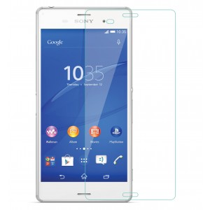 Xperia Z3 Tempered Glass Flexible Glass (HOKO) (Shatter Proof 0.3mm 2.5D Round Edge) Anti Oil Real Tempered Glass With Electroplating Coating for Sony Xperia Z3, Z3 D6603, Z3 D6633, Z3 D6643, Z3 D6653, Z3 D6616