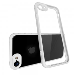 CUBIX Air Bag Case For Apple iPhone 7, Apple iPhone 8 Shock Absorbing Soft Bumper and Hard Acrylic Anti Scratch Crystal Transparent Back Cover Case for Apple iPhone 7, Apple iPhone 8 (White)