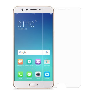 Oppo F3 Plus Tempered Glass (HOKO) (Shatter Proof 0.3mm 2.5D Round Edge) Anti Oil Real Tempered Glass With Electroplating Coating