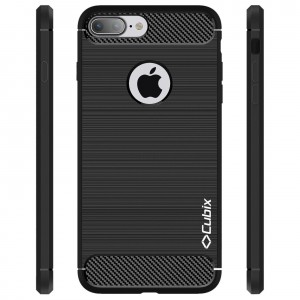 Cubix Liquid Armor Case for Apple iPhone 7, Apple iPhone 8 (Black)