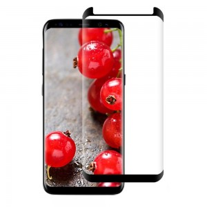 Full Screen Samsung Galaxy S8 Tempered Glass Case Friendly (HOKO) (Shatter Proof 0.3mm 2.5D Round Edge) Anti Oil Real Tempered Glass With Electroplating Coating
