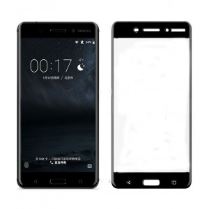 NOKIA 6 Full Screen Tempered Glass (HOKO) (Shatter Proof 0.3mm 2.5D Round Edge) Anti Oil Real Full Screen Tempered Glass With Electroplating Coating