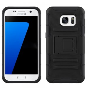 Samsung Galaxy S7 Case, CUBIX [Heavy Duty Series] Armor Holster Defender Full Body Protective Hybrid Case Cover with Belt Swivel Clip for for Samsung Galaxy S7 (Black)