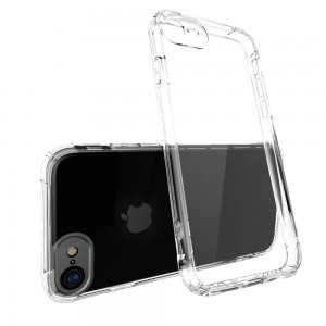 CUBIX Air Bag Case For Apple iPhone 7, Apple iPhone 8 Shock Absorbing Soft Bumper and Hard Acrylic Anti Scratch Crystal Transparent Back Cover Case for Apple iPhone 7, Apple iPhone 8 (Transparent)