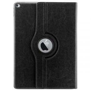 Apple iPad Pro 12.9 Case : HOKO 360 Degree Rotating Leather Smart Cover Case Stand for Apple iPad Pro 12.9 (With Wake/Sleep) Black