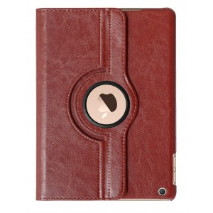 Apple iPad Air Case : HOKO 360 Degree Rotating Leather Smart Cover Case Stand for Apple iPad Air (With Wake/Sleep) Brown