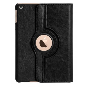 Apple iPad Air Case : HOKO 360 Degree Rotating Leather Smart Cover Case Stand for Apple iPad Air (With Wake/Sleep) Black