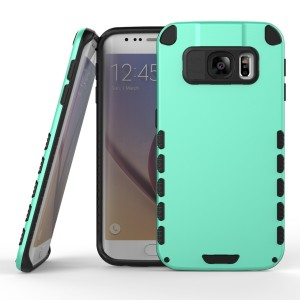 Samsung Galaxy S6 Edge Case (Cubix) Armor Robot Cover [Anti Scratch] Slim-Fit Two Layer Defender Bumper Back cover For Samsung Galaxy S6 Edge (Sea Green)
