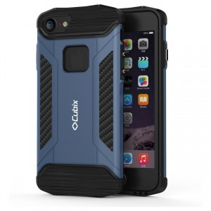Cubix CFX Case For Apple iPhone 7, Apple iPhone 8 Hybrid Shockproof Case Mil-Spec Drop Tested Case for Apple iPhone 7, Apple iPhone 8 - Navy Blue