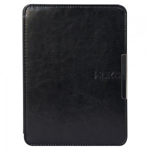HOKO Black Slim Leather Flip Case Cover with magnetic closure for Kindle Paperwhite (Auto wake and sleep)