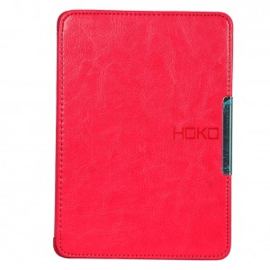 HOKO Pink Slim Leather Flip Case Cover with magnetic closure for New Kindle Paperwhite (Auto wake and sleep)
