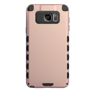 Galaxy Note 5 Case (Cubix) Armor Robot Cover [Anti Scratch] Slim-Fit Two Layer Defender Bumper Back cover For Samsung Galaxy Note 5, Note 5 Dual sim (Rose Gold)
