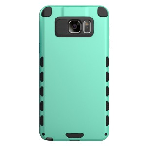 Galaxy Note 5 Case (Cubix) Armor Robot Cover [Anti Scratch] Slim-Fit Two Layer Defender Bumper Back cover For Samsung Galaxy Note 5, Note 5 Dual sim (Sea Green)