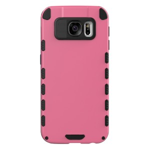 Galaxy S6 Case (Cubix) Armor Robot Cover [Anti Scratch] Slim-Fit Two Layer Defender Bumper Back cover For Samsung Galaxy S6 (Pink)