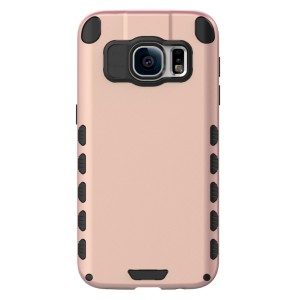 Galaxy S7 Case (Cubix) Armor Robot Cover [Anti Scratch] Slim-Fit Two Layer Defender Bumper Back cover For Samsung Galaxy S7 (Rose Gold)