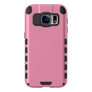 Galaxy S7 Case (Cubix) Armor Robot Cover [Anti Scratch] Slim-Fit Two Layer Defender Bumper Back cover For Samsung Galaxy S7 (Pink)