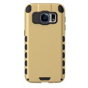 Galaxy S7 Case (Cubix) Armor Robot Cover [Anti Scratch] Slim-Fit Two Layer Defender Bumper Back cover For Samsung Galaxy S7 (Gold)