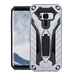 Cubix Case for Samsung Galaxy S8 Robot 2017 Series Case Back Cover Hybrid Defender Bumper shock proof Case Armor Cover With 2 way Stand for Samsung Galaxy S8 (Silver)
