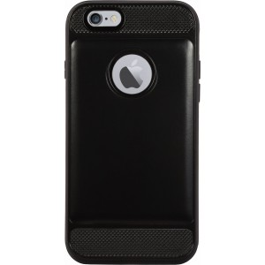 Cubix Defender Series Dual Layer Hybrid TPU + PC Kickst& Case Cover for Apple iPhone 6 & Apple iPhone 6s (Black)