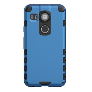 Nexus 5X Case (Cubix) Armor Robot Cover [Anti Scratch] Slim-Fit Two Layer Defender Bumper Back cover For Google Nexus 5X, LG Nexus 5X (Blue)