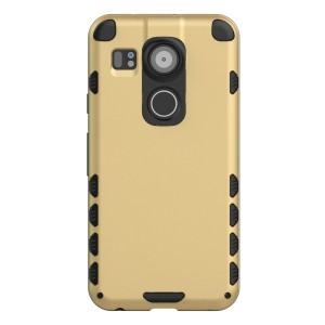 Nexus 5X Case (Cubix) Armor Robot Cover [Anti Scratch] Slim-Fit Two Layer Defender Bumper Back cover For Google Nexus 5X, LG Nexus 5X (Gold)