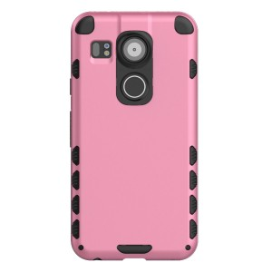 Nexus 5X Case (Cubix) Armor Robot Cover [Anti Scratch] Slim-Fit Two Layer Defender Bumper Back cover For Google Nexus 5X, LG Nexus 5X (Pink)