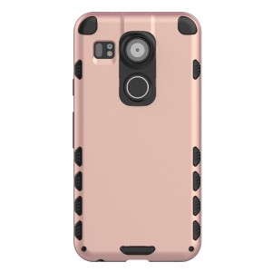 Nexus 5X Case (Cubix) Armor Robot Cover [Anti Scratch] Slim-Fit Two Layer Defender Bumper Back cover For Google Nexus 5X, LG Nexus 5X (Rose Gold)