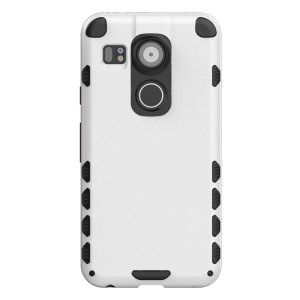 Nexus 5X Case (Cubix) Armor Robot Cover [Anti Scratch] Slim-Fit Two Layer Defender Bumper Back cover For Google Nexus 5X, LG Nexus 5X (White)