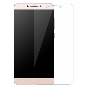 Leeco Le 2 Tempered Glass (HOKO) (Shatter Proof 0.3mm 2.5D Round Edge) Anti Oil Real Tempered Glass With Electroplating Coating