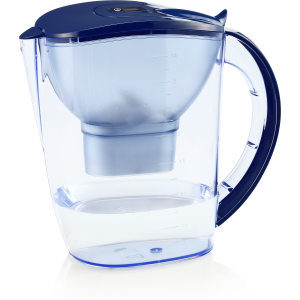 Dr. Domum Wellblue Alkaline Water Pitcher 3.5L Mineral Water ionized Water PITCHER water ionizer PH10 water (3.5 Liter) (Blue) (Brita Maxtra Water filter Cartridges Compatible)
