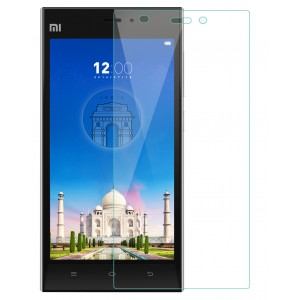 Xiaomi Mi3, Mi 3 Tempered Glass Flexible Glass (HOKO) (Shatter Proof 0.3mm 2.5D Round Edge) Anti Oil Real Tempered Glass With Electroplating Coating for Xiaomi Mi3, Mi 3