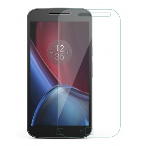 Moto G Plus, 4th Gen Tempered Glass (HOKO) (Shatter Proof 0.3mm 2.5D Round Edge) Anti Oil Real Tempered Glass With Electroplating Coating
