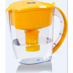 Dr. Domum Wellblue Alkaline Water Pitcher 3.5L Mineral Water ionized Water PITCHER water ionizer PH10 water (3.5 Liter) (Orange)