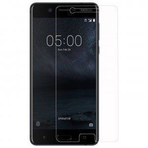 NOKIA 5 Tempered Glass (HOKO) (Shatter Proof 0.3mm 2.5D Round Edge) Anti Oil Real Tempered Glass With Electroplating Coating