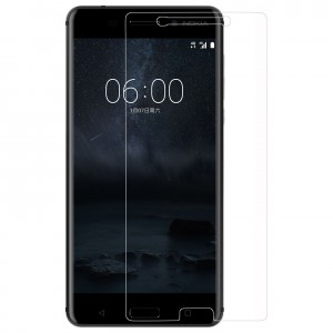 NOKIA 6 Tempered Glass (HOKO) (Shatter Proof 0.3mm 2.5D Round Edge) Anti Oil Real Tempered Glass With Electroplating Coating