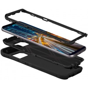 Cubix DEFENDER SERIES Case for Samsung Galaxy S8 - BLACK 360 Degree Case Protects Front and Back
