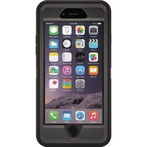 Cubix DEFENDER SERIES Case for Apple iPhone 6 & iPhone 6S - BLACK 360 Degree Case Protects Front and Back