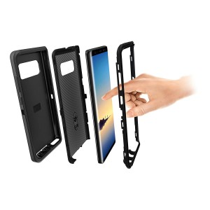 Cubix DEFENDER SERIES Case for Samsung Galaxy Note 8 - BLACK 360 Degree Case Protects Front and Back