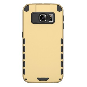S6 Edge+ Case (Cubix) Armor Robot Cover [Anti Scratch] Slim-Fit Two Layer Defender Bumper Back cover For Samsung Galaxy S6 EDGE+, Galaxy S6 Edge Plus (Gold)