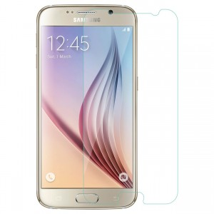 Galaxy S6 Tempered Glass, Flexible Glass, (HOKO) (Shatter Proof 0.3mm 2.5D Round Edge) Anti Oil Real Tempered Glass With Electroplating Coating for Samsung Galaxy S6