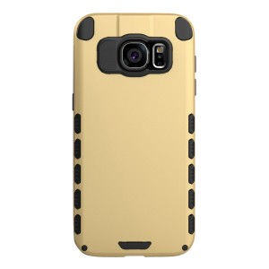 Galaxy S7 edge Case (Cubix) Armor Robot Cover [Anti Scratch] Slim-Fit Two Layer Defender Bumper Back cover For Samsung Galaxy S7 edge (Gold)