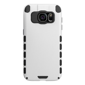 Galaxy S7 edge Case (Cubix) Armor Robot Cover [Anti Scratch] Slim-Fit Two Layer Defender Bumper Back cover For Samsung Galaxy S7 edge (White)