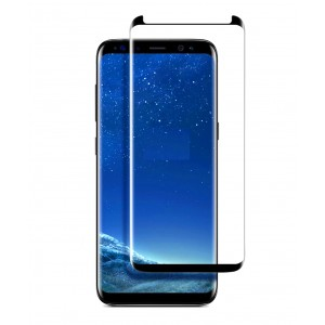 Full Screen Samsung Galaxy S8+, Galaxy S8 Plus Tempered Glass Case Friendly (HOKO) (Shatter Proof 0.3mm 2.5D Round Edge) Anti Oil Real Tempered Glass With Electroplating Coating