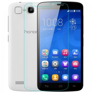 Honor Holly Tempered Glass, Flexible Glass, (HOKO) (Shatter Proof 0.3mm 2.5D Round Edge) Anti Oil Real Tempered Glass With Electroplating Coating for Huawei Honor Holly