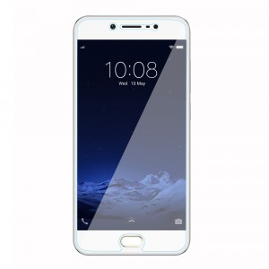 vivo V5 Tempered Glass (HOKO) (Shatter Proof 0.3mm 2.5D Round Edge) Anti Oil Real Tempered Glass With Electroplating Coating